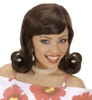 50's Flick Up Wig (Brown)